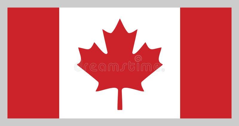 Flag of Canada royalty free illustration