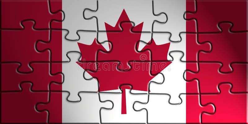 Flag of Canada vector illustration