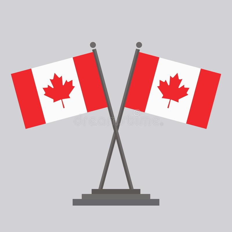 Flag of Canada Drawing by illustration stock illustration