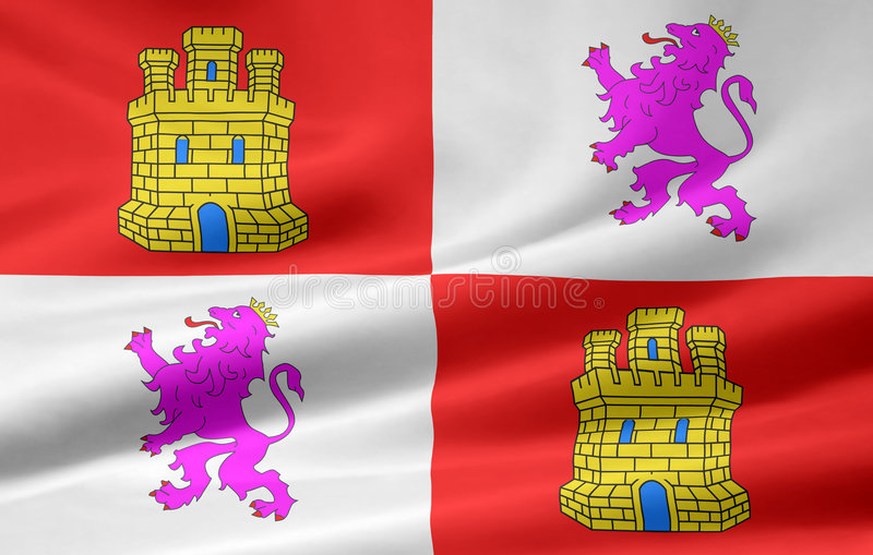 Download Flag Of Castilla Y Leon - Spain Stock Illustration - Image: 7115415