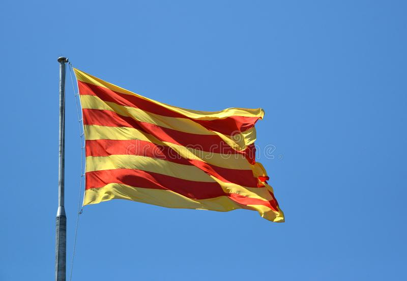 Flag of Catalan stock photo
