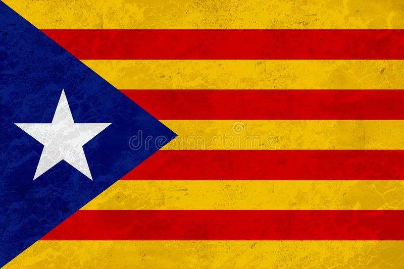 Flag Catalonia independence - marble texture royalty free illustration