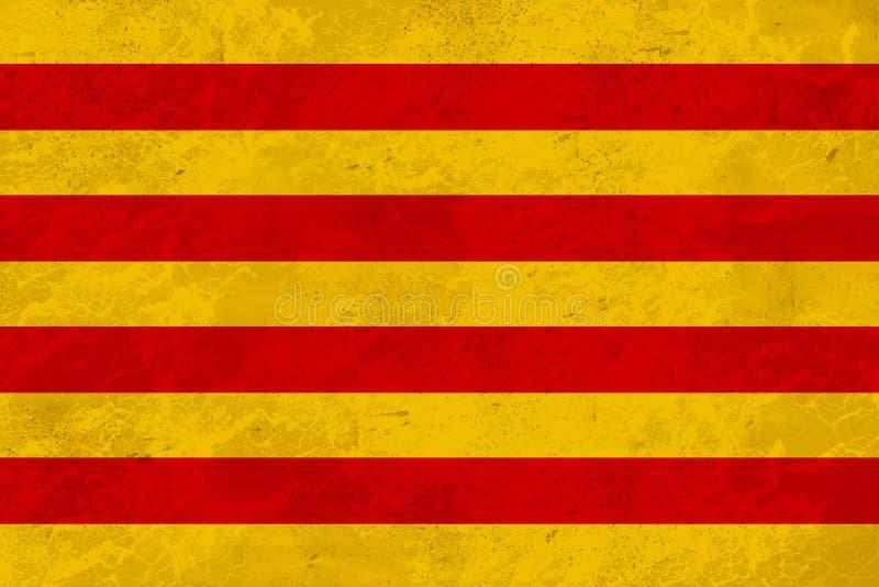 Flag Catalonia Senyera - marble texture royalty free stock photos