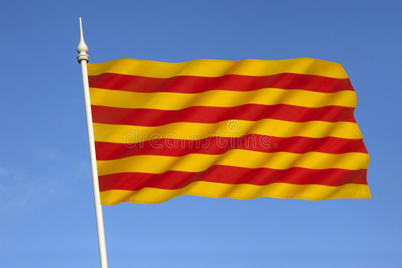 Flag of Catalonia - Spain royalty free stock photos