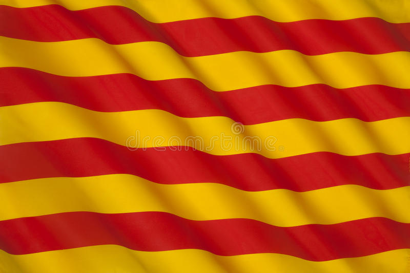 Flag of Catalonia - Spain - Europe royalty free stock photo