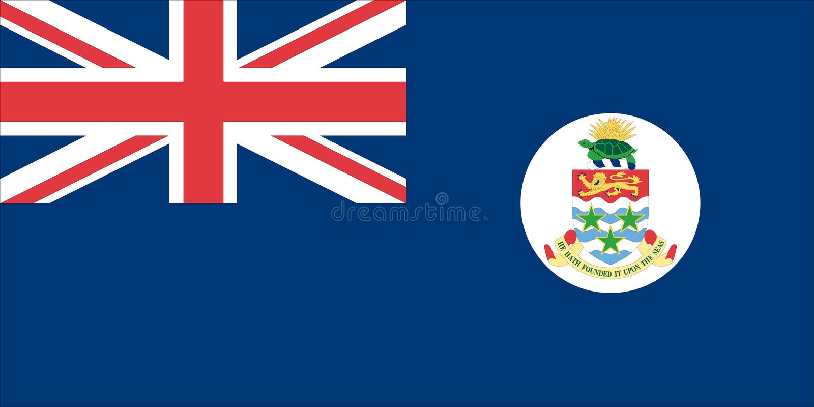 Flag of the Cayman Islands stock illustration