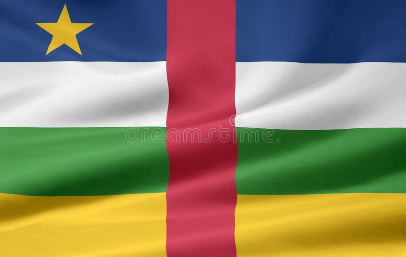 Flag of Central Africa stock photography