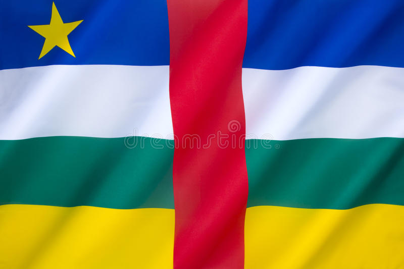 Flag of the Central African Republic royalty free stock image