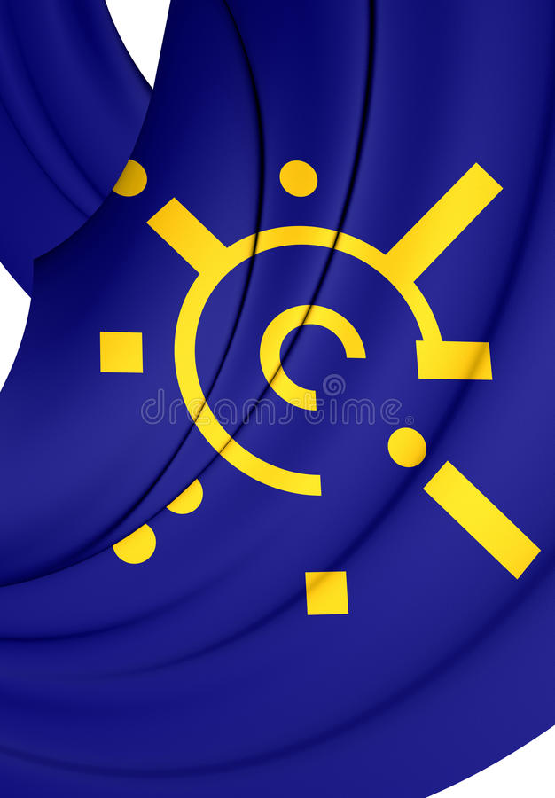 Flag Of Central European Free Trade Agreement Stock Illustration