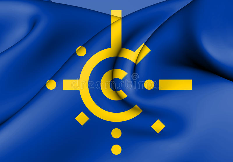 Flag of Central European Free Trade Agreement. vector illustration