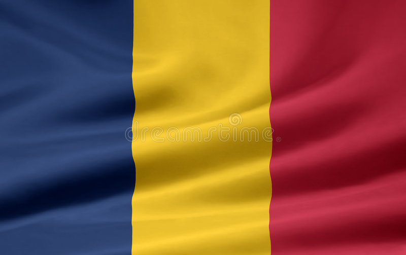 Flag of Chad stock images