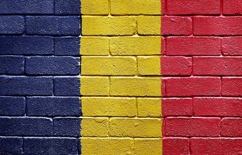 Flag Of Chad On Brick Wall Royalty Free Stock Photo