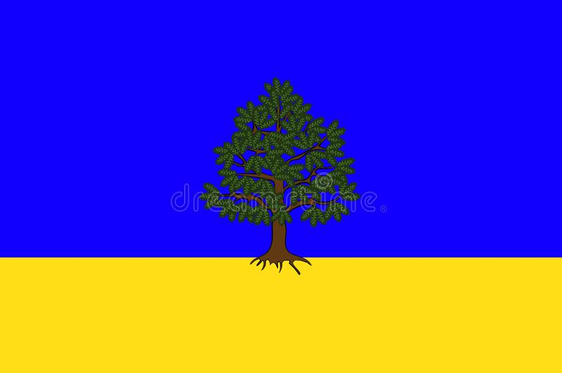 Flag of Chateau-Chinon in Nievre of Burgundy, France. Flag of Chateau-Chinon is a commune in the Nievre department in France. Vector illustration vector illustration