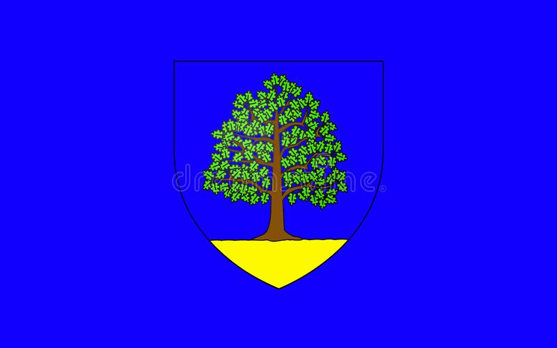 Flag of Chateau-Chinon, France. Flag of Chateau-Chinon is a commune in the Nievre department in France. It is a sub-prefecture of the department royalty free illustration