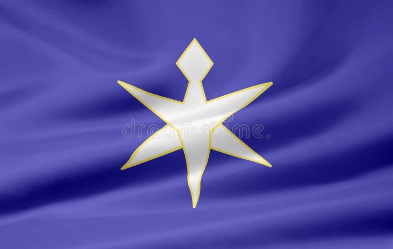 Flag of Chiba - Japan royalty free stock photography