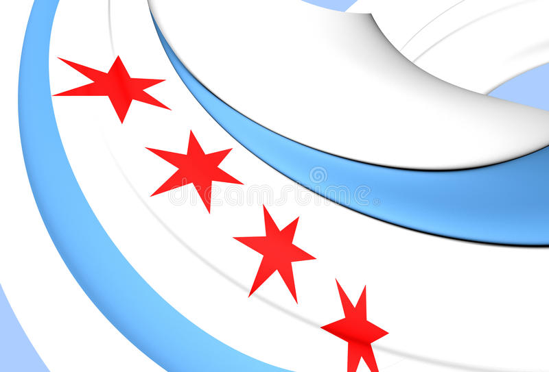 Flag of the Chicago, USA. royalty free illustration
