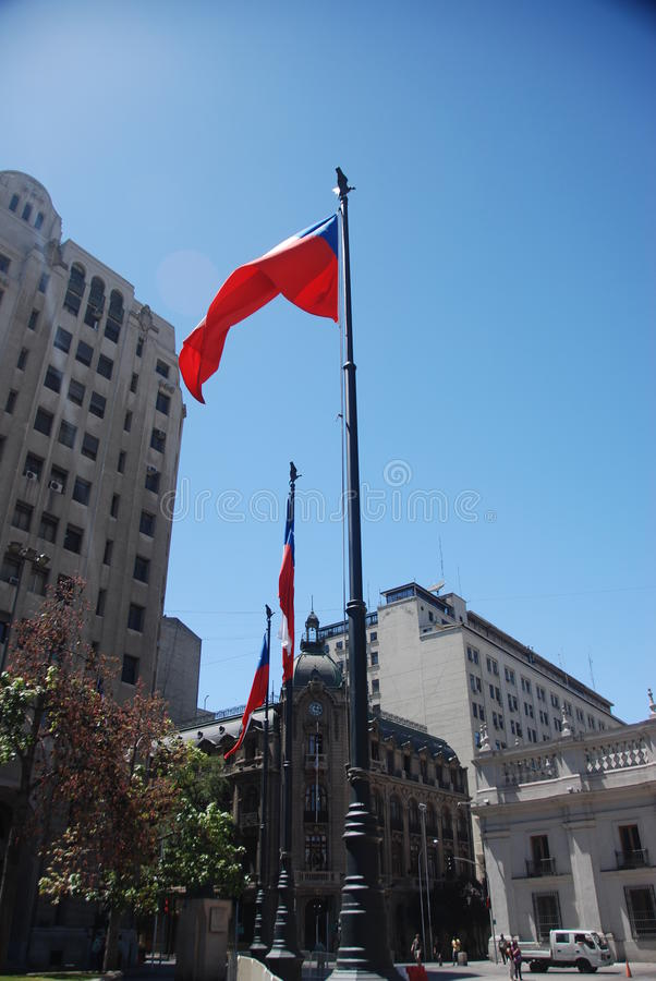 Download Flag of Chile editorial stock image. Image of building - 18753679