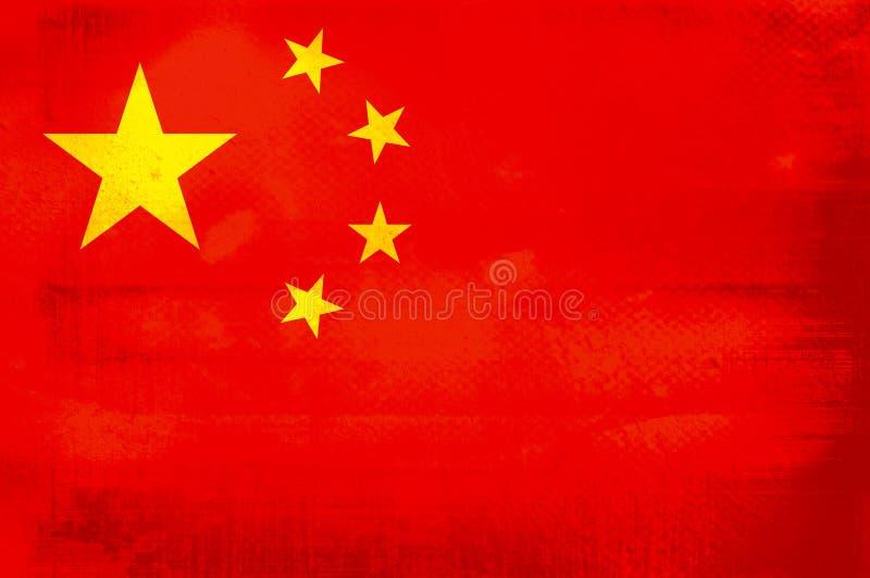 Flag of China. Grunge background edit royalty free illustration