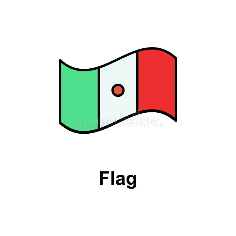 Flag, cinco de mayo icon. Element of Cinco de Mayo color icon. Premium quality graphic design icon. Signs and symbols collection stock illustration