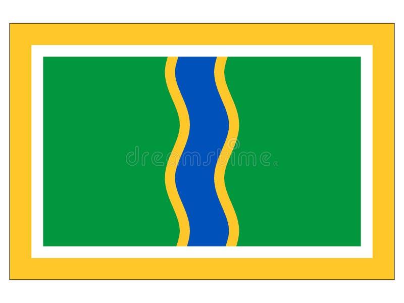 Flag of the City of Andorra la Vella vector illustration