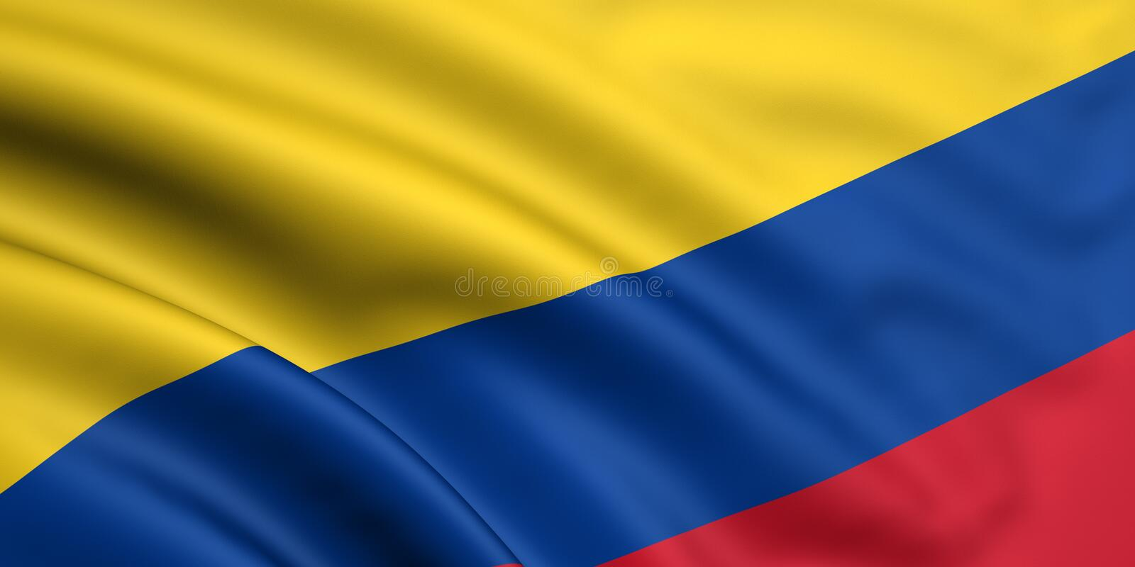 Flag Of Colombia stock illustration