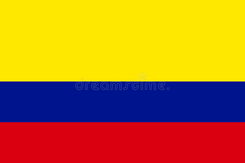 Flag of Colombia royalty free illustration