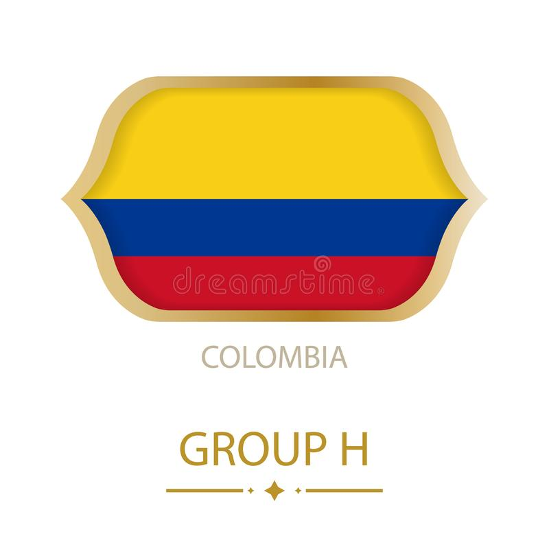 The flag of Colombia is made in the style of the Football World Cup vector illustration