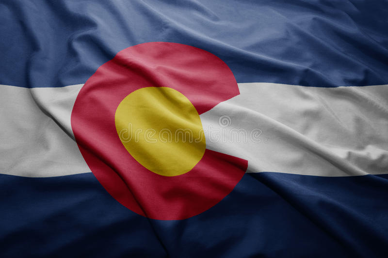 Flag of Colorado state stock images