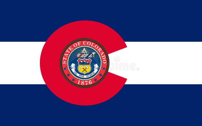 Flag of Colorado, USA. Flag of Colorado, Denver - United States royalty free stock image