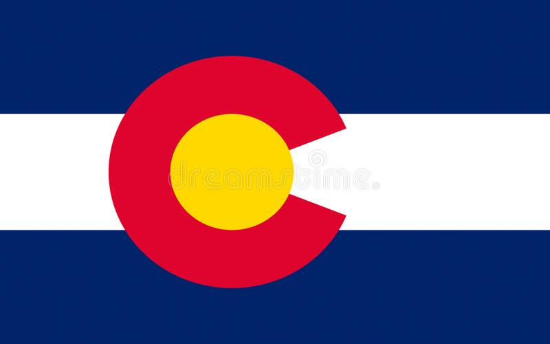 Flag of Colorado, USA. Flag of Colorado, Denver - United States stock photo