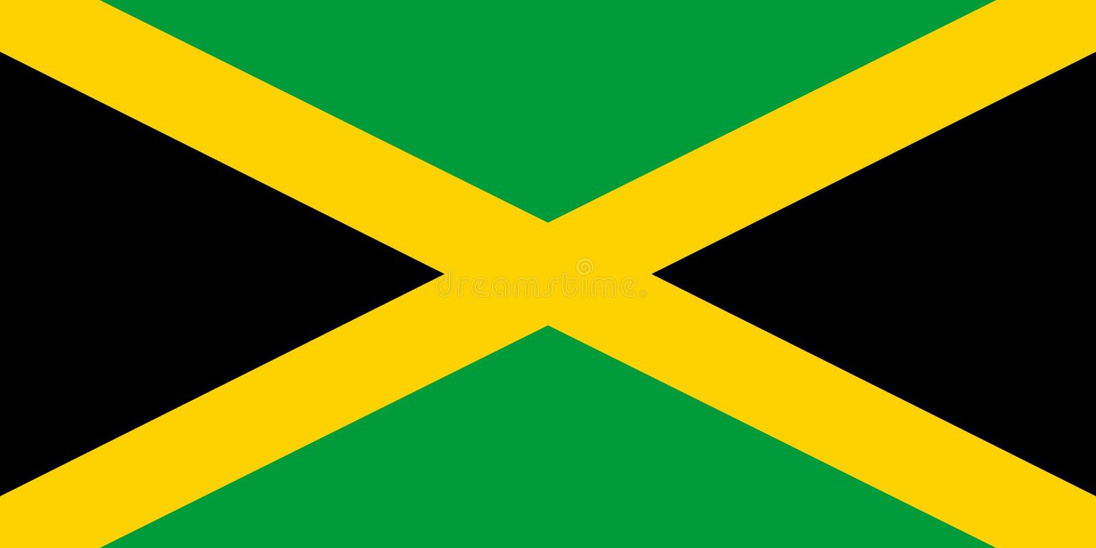 Flag in colors of Jamaica, image. Flag in colors of Jamaica, image royalty free illustration