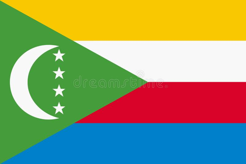 Flag of Comoros background illustration large file royalty free illustration