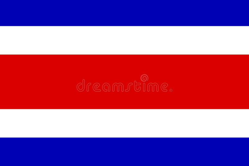 Flag of Costa Rica royalty free illustration