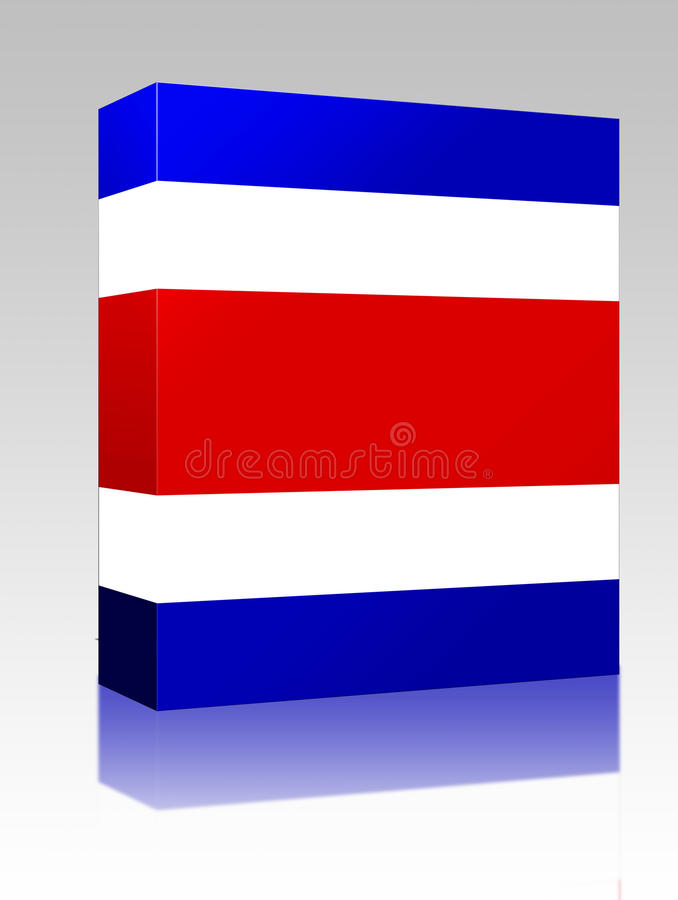 Download Flag Of Costa Rica Box Package Stock Illustration - Image: 9453505