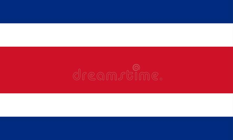 Flag of Costa Rica. Vector format ai aviable blue white and red stripes vector illustration