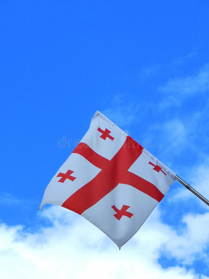 Flag of the country of Georgia royalty free stock photos