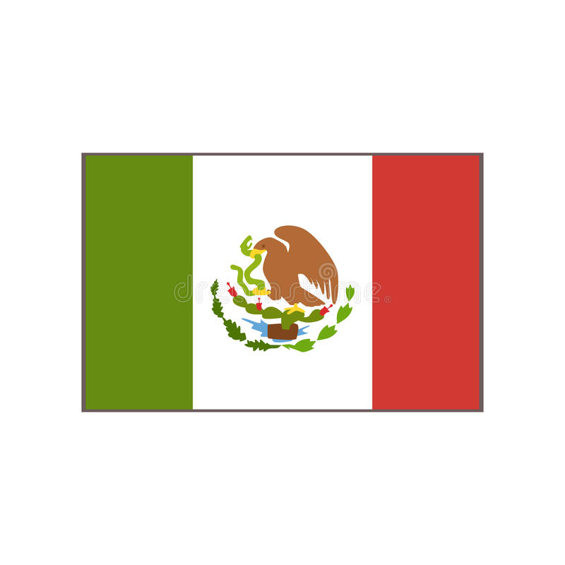 Flag Of The Country Mexican Culture Symbol Stock Vector