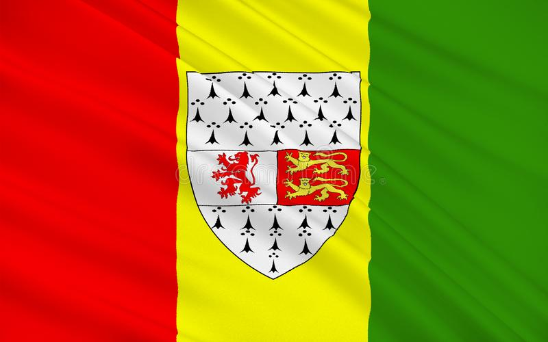 Flag of County Carlow is a county in Ireland. It is part of the South-East Region and is also located in the province of Leinster stock photos