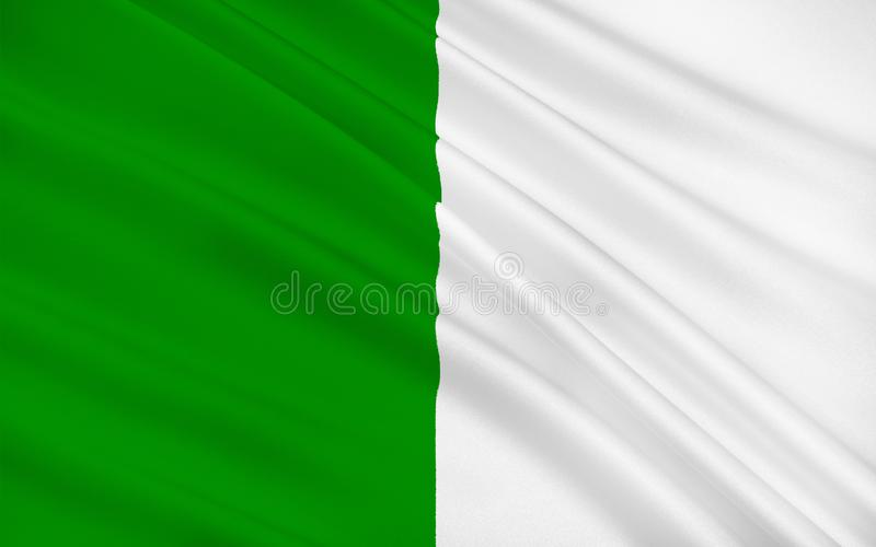 Flag of County Limerick is a county in Ireland. It is located in the province of Munster, and is also part of the Mid-West Region. Limerick City and County stock illustration
