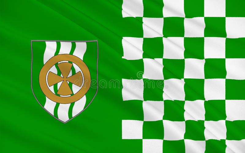 Flag of County Limerick is a county in Ireland. It is located in the province of Munster, and is also part of the Mid-West Region. Limerick City and County vector illustration