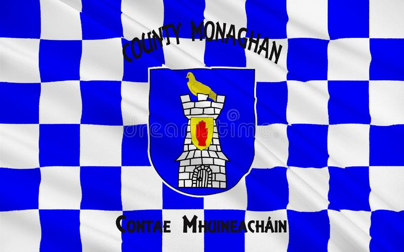 Flag of County Monaghan is a county in Ireland. It is part of the Border Region and is in the province of Ulster vector illustration