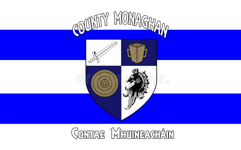 Flag of County Monaghan is a county in Ireland. It is part of the Border Region and is in the province of Ulster royalty free stock photography