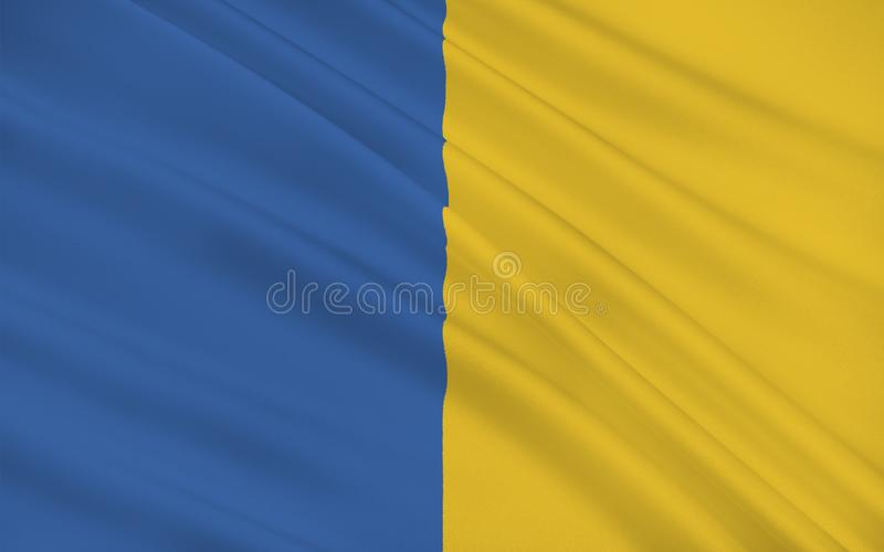 Flag of County Wicklow is a county in Ireland. The last of the traditional 32 counties to be formed, as late as 1606, it is part of the Mid-East Region and is vector illustration