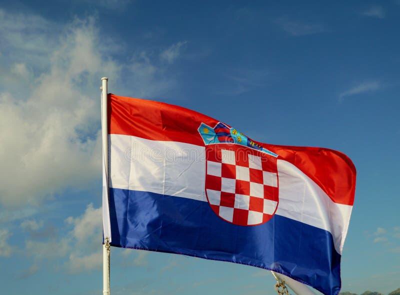 The Flag Of Croatia Stock Photo