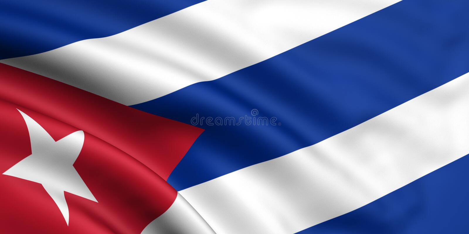 Flag Of Cuba. 3d rendered and waving flag of cuba