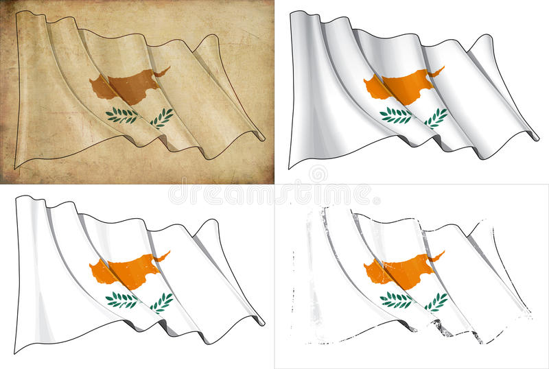 Download Flag of Cyprus stock illustration. Illustration of dirty - 25855342