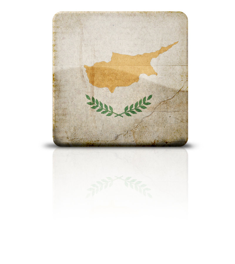 Flag Of Cyprus. Grunge style flag of Cyprus