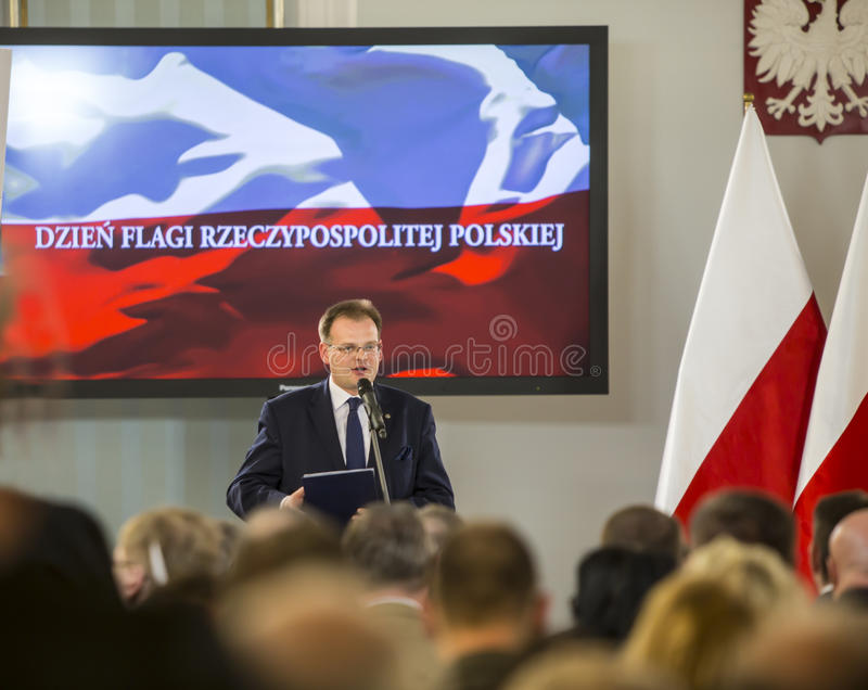 Flag day of the Republic of Poland in the Sejm of the Republic of Poland, royalty free stock photography
