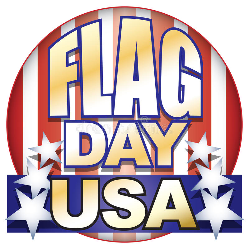 Flag Day USA. This illustration and type for any American Flag Day celebration, with stars and stripes in red, white and blue, can be used in a variety of vector illustration