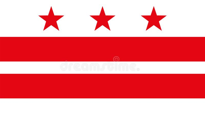 Flag of the District of Columbia stock illustration